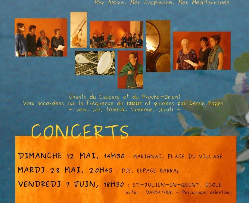 Concert : Entre Mers chantera le mardi 28 mai à 20h45 à la Salle Forum de l'Espace Barral!