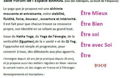 Séances d'essai le 19 et 26 Septembre de Yoga – Les jeudis de 18h à 19h30 à DIE