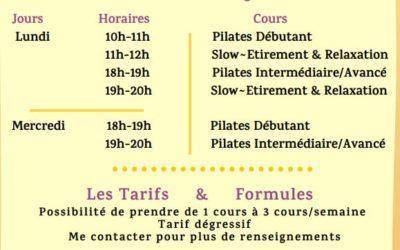 Reprise des cours de Pilates – Étirement & Relaxation –