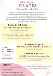 Ateliers Pilates Dates Mina Retali (Die - Barral)